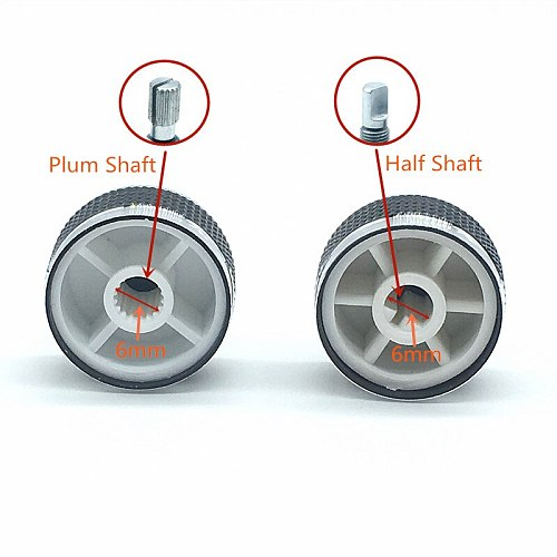 2pcs D Axis Plum Axis Car Volume Knob Power Aplifer Volume Knobs Potentimeter Switch Caps 20x13mm Plum Half Shaft