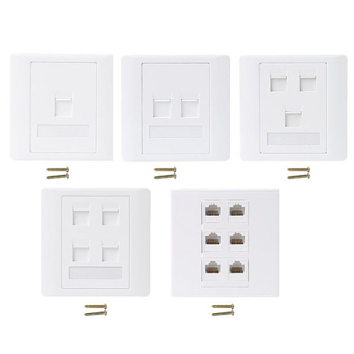 86 Type Computer Socket Panel CAT5E Network Module RJ45 Cable Interface Outlet