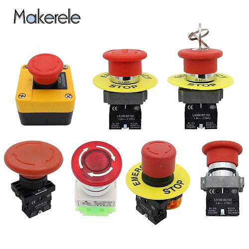 Electrical Buttons For Industrial Electrical Equipment Start And Stop Buttons NC Emergency Stop Tuttons Multiple Models 1 Pc