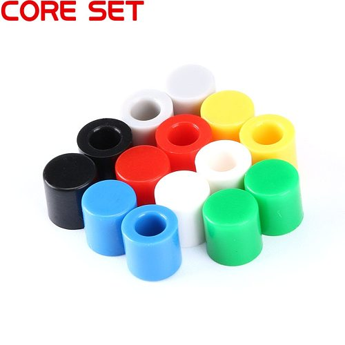 70pcs/lot 7 Color Tactile Button Caps Plastic Cap Hat for 6*6mm Micro Tact Switch For Arduino