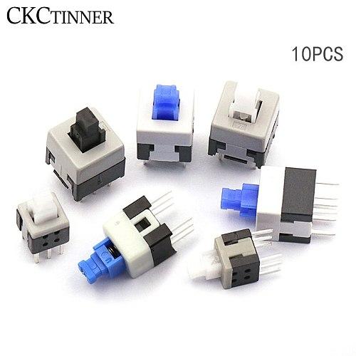 10PCS/LOT 5.8*5.8 7*7 8*8 8.5*8.5mm Self Locking Push Tactile Power Micro Switch Kit 6 Pin Button Switches