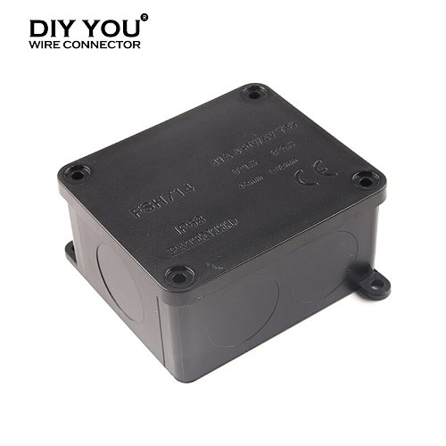 IP68 41A/450V Outdoor Waterproof Electrical wiring Junction Box With Terminal Can cut holes Connection cable Wire connector