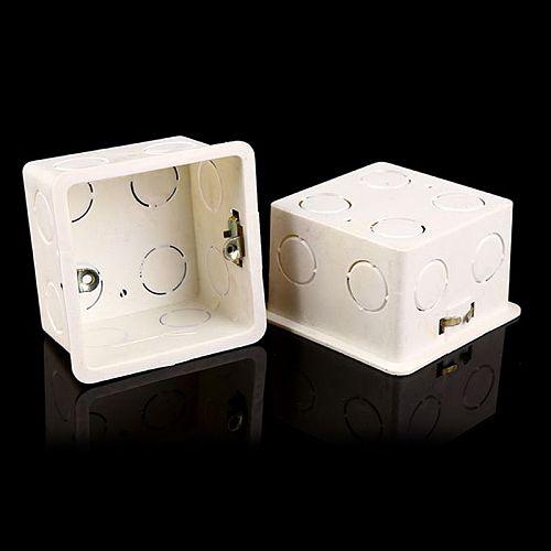 80x80 PVC Junction Box Wall Mount Cassette For Switch Socket Base Switch Bottom