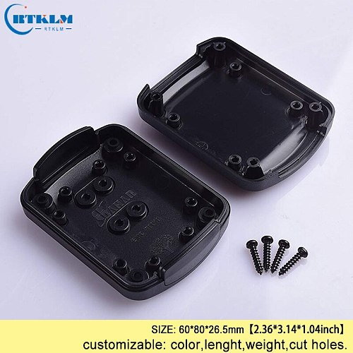 Small abs plastic wire junction box plastic electrical cabinet project box handheld enclosure diy speaker box 60*80*26.5mm