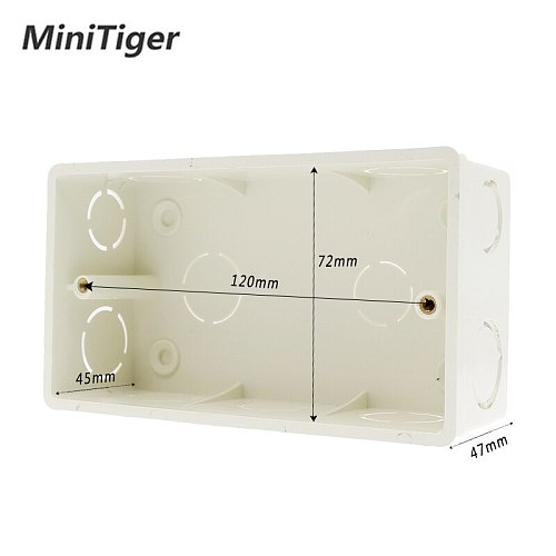 Minitiger Wall Mounting Box Internal Cassette White Back Box 137*83*56mm For 146mm*86mm Standard TouchSwitch and Socket