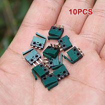 10PCS Micro Switch Small Miniature Limit Stroke Switch with Hole 3 Pins Normally Open Normally Closed N/O N/C Microswitches DIY