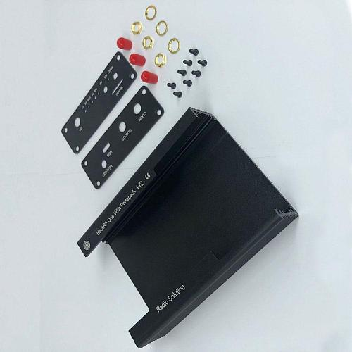 Metal Case Black Aluminum Enclosure Cover Shell for PORTAPACK H2 / HACKRF ONE SDR Radio