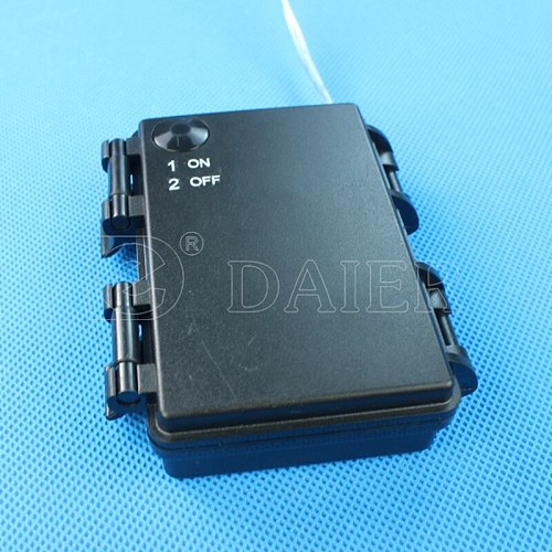 5PCS IP65 ON OFF 4.5V Black 3 AA Waterproof Battery Holder AA Battery Box With Wire Leads Battery Cell