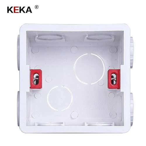 KEKA Switch socket cassette adjustable mounting box built-in box for touch switch and usb socket white red blue Wiring Back Box