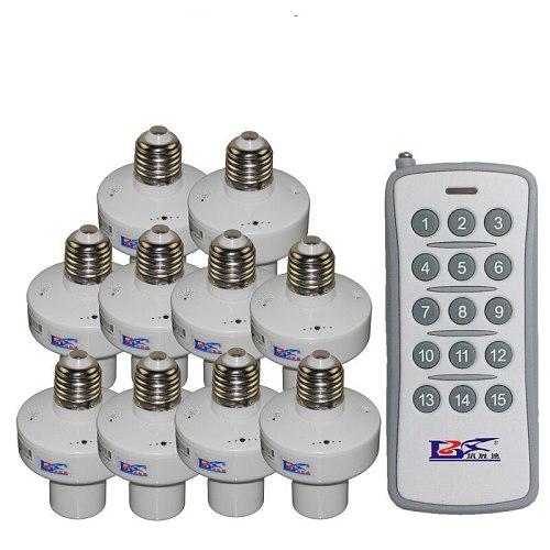 1/2/3/4*E27 Wireless Remote Control Light Lamp base oN/off Switch Socket Holder rc smart device  110V 220V