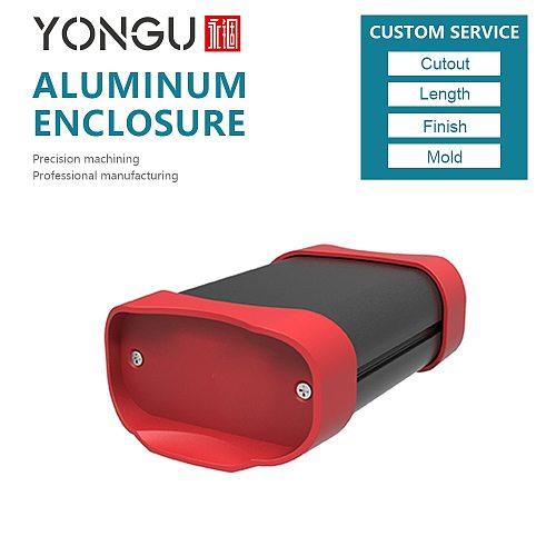 YGK K01A-70*35-L(W*H*L) Optional Plastic Panels Anodized Aluminum Enclosure