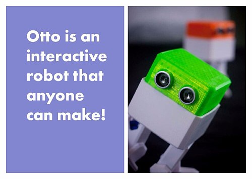robot Otto robot suite create open source, humanoid MCU to avoid obstacles