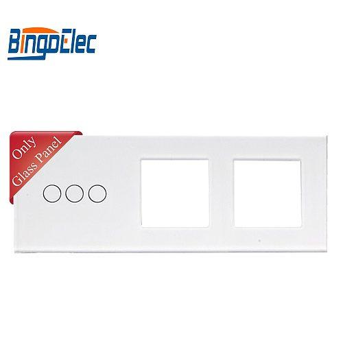 Bingoelec EU Standard Hot Sale Three Color 3G And 2 Frame Glass Panel,86*229mm