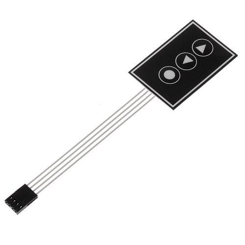 1x3 Matrix Array 3Key Membrane Switch Keypad Keyboard 1*3Key 36*55mm DIY Arduino