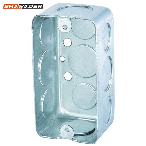 Junction Handy Box US/AU Electrical Mounting Galvanized Metal Steel Rectangle Wall Mount Switch Outlet Box Conduit Knockout Ko's