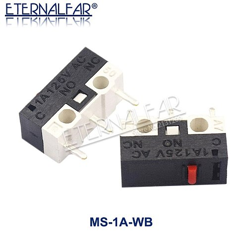 Micro Limit Switch Momentary Push Button Switch 1A 125V AC Mouse Switch 3Pins Long Handle Roller Lever Arm SPDT 12* 6 *6mm