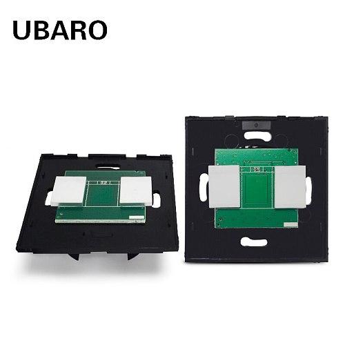UBARO EU/UK NO Crystal glass Wall Smart Light Touch Sensor Switch PC Material Blacklight Interruptor Schakelaar Switcher Botton