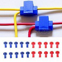 AUTO 10pcs 2 Pin T Shape Wire Cable Connectors Terminals Crimp Scotch Lock Quick Splice Electrical Car Audio Kit Tool