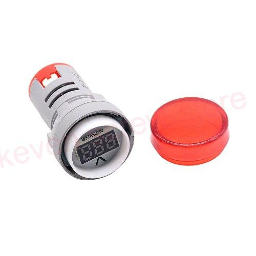22MM type AC 24-500V Mini Voltage Meter LED Digital Display AC Voltmeter Indicator Light Pilot Lamp