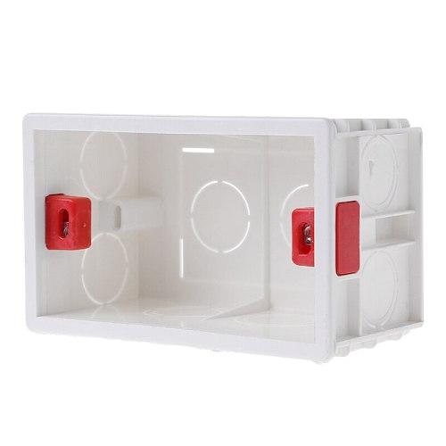 118mmX72mm Standard PVC Junction Box Wall Mount Cassette For Switch Socket Base