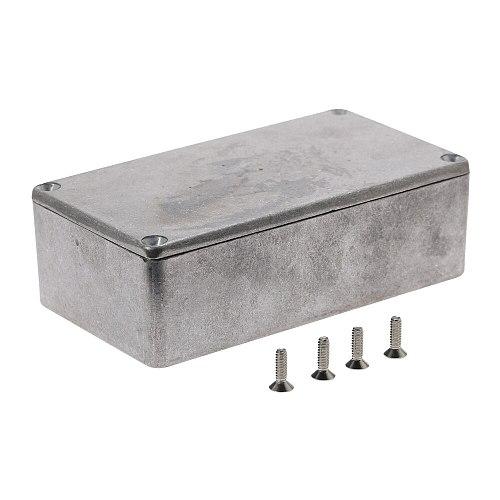 Silver Aluminium Enclosure Electronic Diecast Stomp box Project Box 1590N1/125B 121*65.5*39mm Pedal Enclosure For Guitar Part