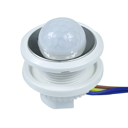 40mm PIR Infrared Ray Motion Sensor Switch Time delay adjustable mode detector switching For Home Lighting LED Lamp