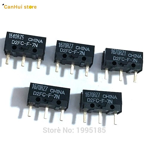 5PCS/LOT New Authentic OMRON Mouse Micro Switch D2FC-F-7N Mouse Button Fretting D2FC-E-7N D2FC