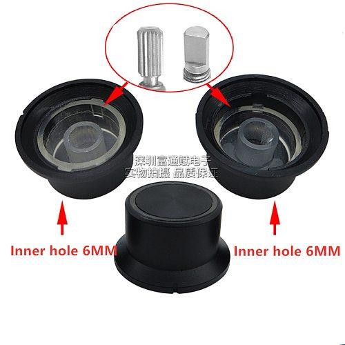 5pcs Exquisite workmanship diameter 25MM*15MM transparent knob potentiometer cap switch with half shaft / flower core