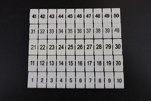 10pcs Flame retardant UK2.5B UK5N  UDK4 UKK5 terminal row digital mark number tube ZB6 printing label strip