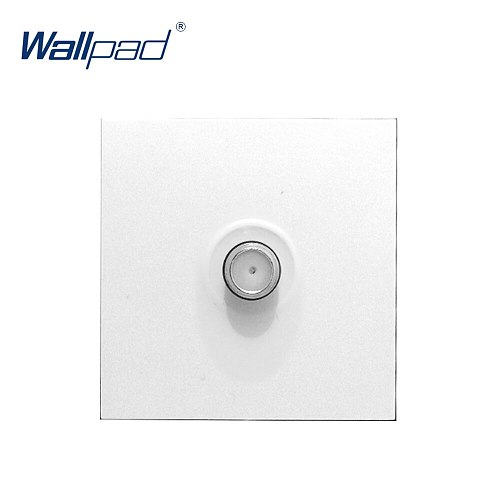 Wallpad Luxury Satellite TV Socket Function Key For Wall White And Black Plastic Module Only