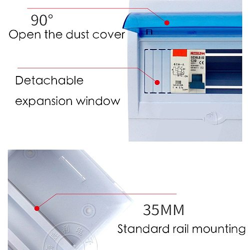 5-8P MCB Atmosphere Switch Case Electric Leakage Protect Air Open Box PZ30 Distribution Household Concealed Suit 5-8 Position