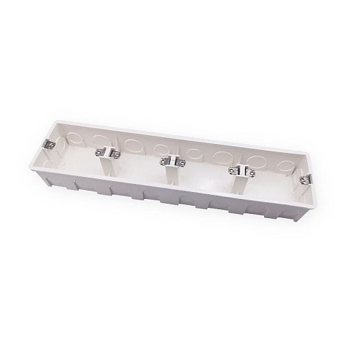 High Quality 4-gang Secret Stash Wall Mount Switch Junction Box 342*81*48mm for 86 Type Wall Switches Sockets