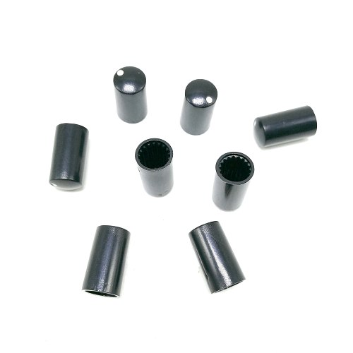 7.5*14MM potentiometers, knobs, 6MM, sawtooth holes, potentiometers, matching caps, black