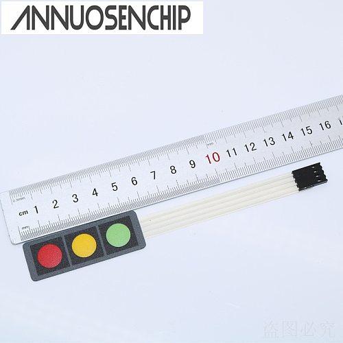 1x3 Matrix Array Membrane Switch Keypad 3 Keys RGB Red Green Yellow Keyboard 1*3 Keys Display Switch Control Panel For DIY