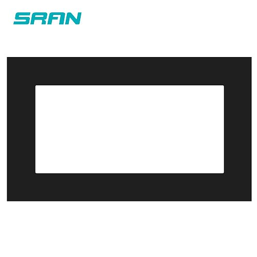 SRAN Blank panel with Installing iron plate 146mm*86mm white/black/gold PC dual frame panel switch socket
