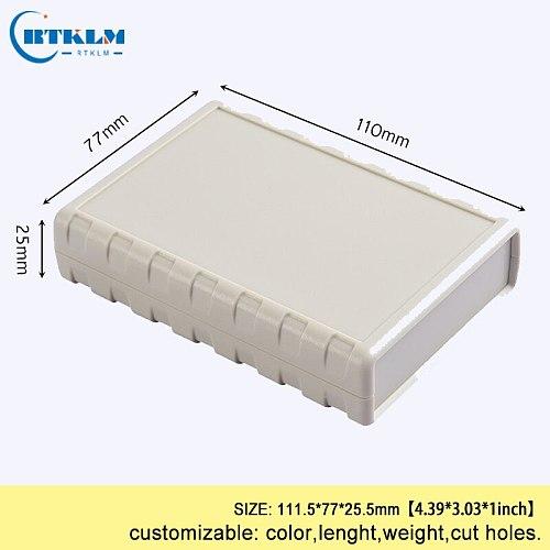 Plastic enclosure housing for electronics abs plastic project junction box diy instrument case Desktop shell 111.5*77*25.5mm