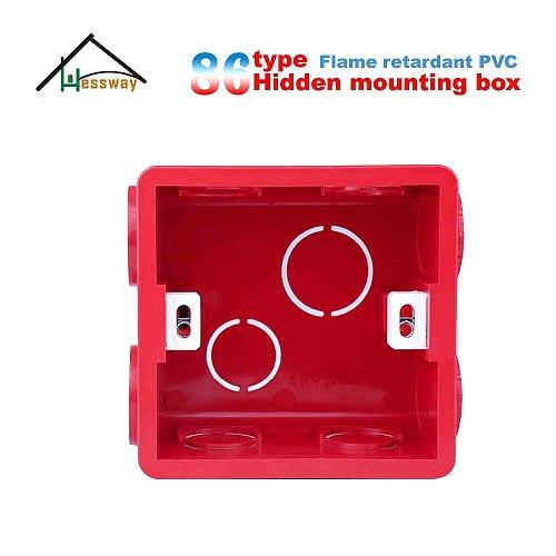 Flame retardant PVC Plastic secret stash Internal Wall Mounting Box for 86*86mm cassette