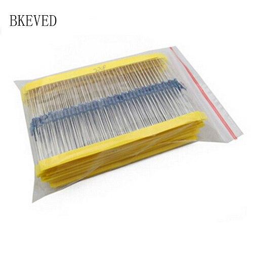 300Pcs 10-1M Ohm 1/4w Resistance 1% Metal Film Resistor Assortment Kit Set 30Kinds*10pcs=300PCS Free Shipping