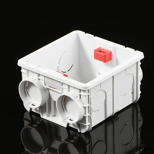 Drop Ship&Wholesale 86-Type PVC Junction Box Wall Mount Cassette For Switch Socket Base August 5