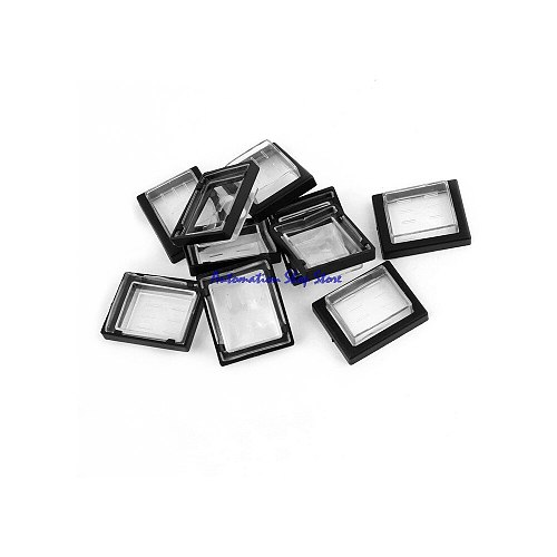 5 Pcs Clear Black Rectangle KCD4 Rocker Switch Covers Waterproof  Caps Protectors