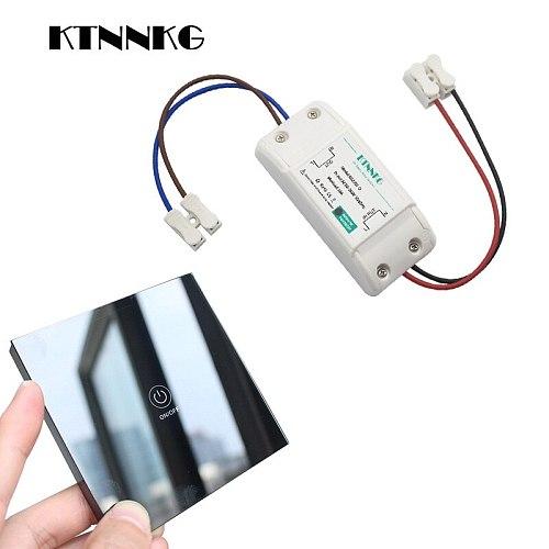 KTNNKG Smart Wireless touch Switch Light RF Remote Control Glass 30M Distance Pass Through Wall