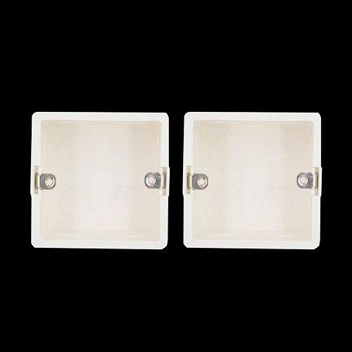 80*80*50mm PVC Flame Retardant Junction Dark Box Universal Switch Socket Wall Mount Switch Box Secret Stash