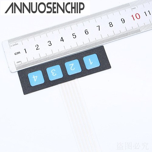 1x4 Key Matrix Membrane Switch Control Panel Keypad Keyboard Slim