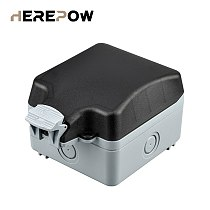 Herepow IP66 Waterproof Weatherproof Outdoor Outlet Protection Box, 1 Set of Universal / UK Standard Neon Switching Outlets