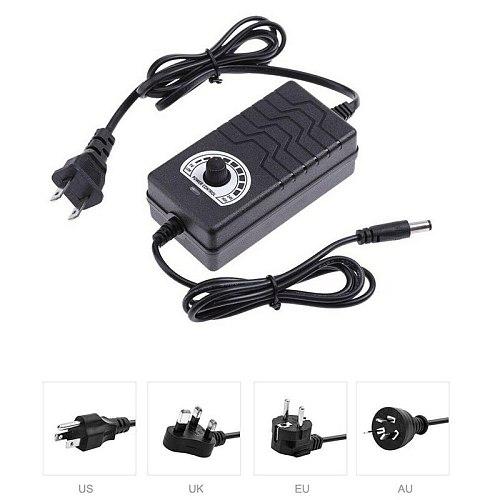 AC/DC Adapter 1-12V 2A Adjustable Volt Power Supply Motor Speed Controller
