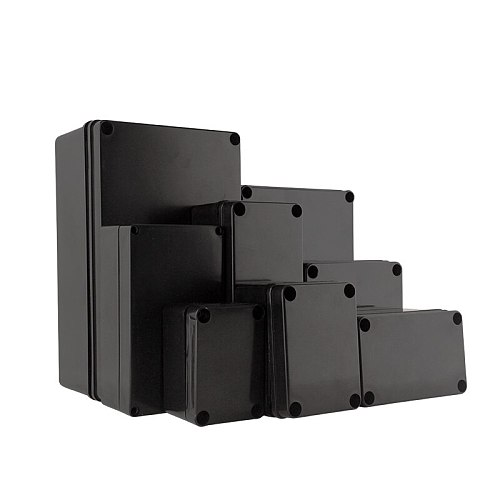 Waterproof Electronic Plastic Box Black color ABS Material Enclosure Housing Instrument Project Case Outdoor Junction Boxes