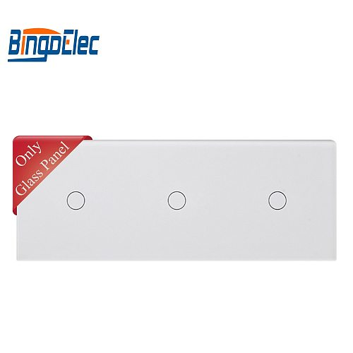 86*229mm, Triple  gang touch sensor switch panel can match with touch switch function part