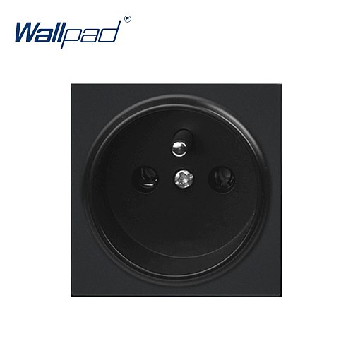 Wallpad Luxury EU French Socket Electric Outlet Function Key For Wall White And Black Plastic Module Only
