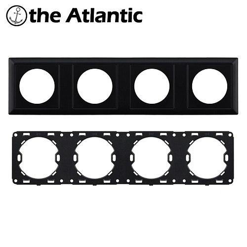 L1 Customize DIY Parts Black Plastic Panel Frame For Wall Switch Socket Plastic Frame Only Singel,Double,Triple,Quadruple Panel