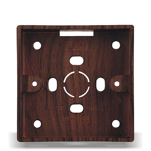 2pcs Retro Switch Outlet Ming Bottom Box Wood Color 86 Type Switch Socket Junction Box Outstanding Wall Mounting Box